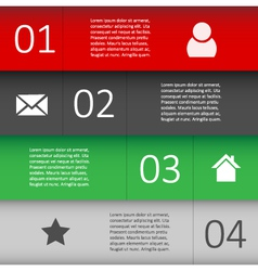 Modern design template for infographic website vector