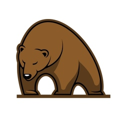 Big brown bear mascot vector image