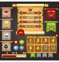 Game interface design vector