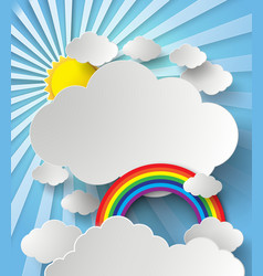 rainbow on cloud vector image