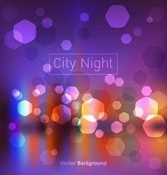City night lights vector