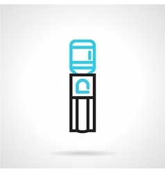 Water dispenser flat line icon vector