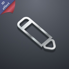 Pen icon symbol 3d style trendy modern design with vector