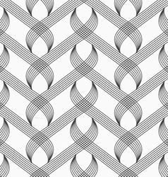 Flat gray with hatched overlapping integrals vector