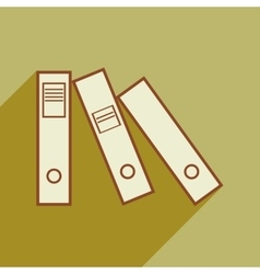 Flat with shadow icon folders for documents vector