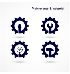 Maintenance and repair logo elements vector image