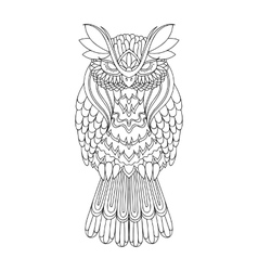 Owl  picture for coloring vector