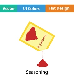 Seasoning package icon vector