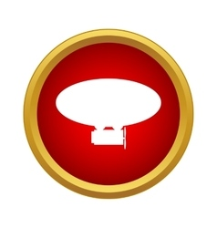 Airship icon in simple style vector