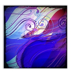 Abstract wave light background with swirls and vector image