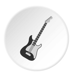 Acoustic guitar icon circle vector