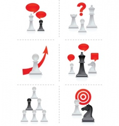 chess moves vector image