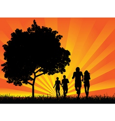 couples jogging vector image vector image