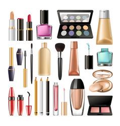 Decorative cosmetics for make up big realistic vector