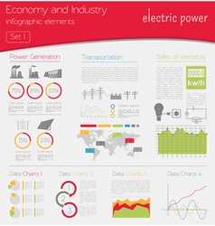 Economy and industry Electric power Industrial vector image vector image