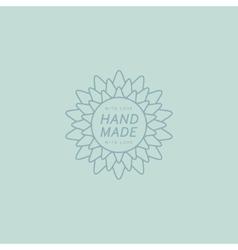 Flower hand made trademark vector