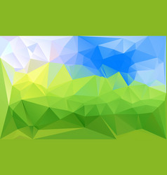 horizontal green blue lowpoly background vector image