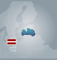 latvia information map vector image vector image