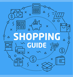 linear shopping guide vector image vector image