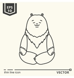 Meditative animals series - bear vector
