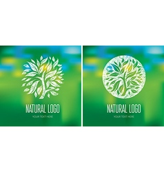 Natiral Logo 06 vector image vector image