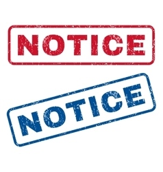Notice rubber stamps vector