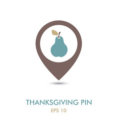 pear mapping pin icon harvest thanksgiving vector image vector image