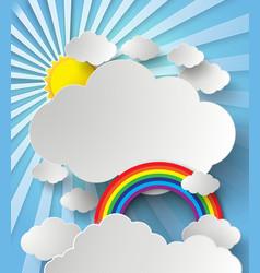 rainbow on cloud vector image
