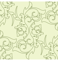 Decoration vintage element floral style seamless vector
