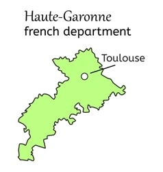Haute-garonne french department map vector