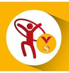 olympic gold medal artistic gymnastics ring vector image