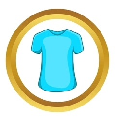 Mens summer t-shirt icon vector