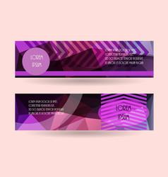horizontal banner template promotion brochure vector image