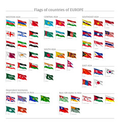 Big set of flags of europe vector