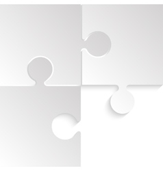 3 Puzzles Grey Pieces JigSaw Background vector image