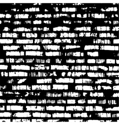 Brick wall black and white relief texture with vector image