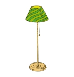 Green floor lamp isolated on white background vector