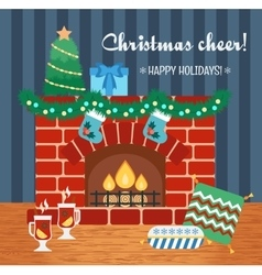 Christmas attributes christmas gift card vector