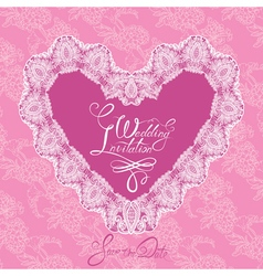 Heart lace wedding 380 vector