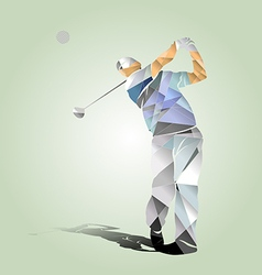 Polygon of a golfer vector