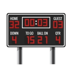 American football scoreboard vector