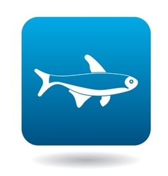 Trout fish icon simple style vector