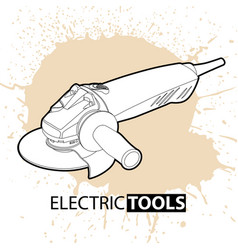 Angle sander on a bright background vector