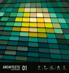 Architects abstract multicolored tiles materials vector image