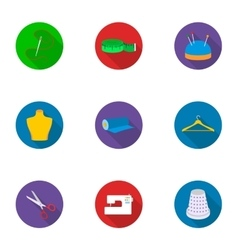 Atelie set icons in flat style Big collection of vector image