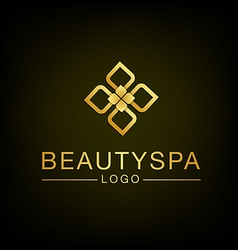 Beauty flower spa logo design vector