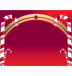 candy cane background vector image