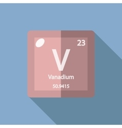 Chemical element vanadium flat vector