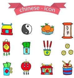 Chinese element icons vector image