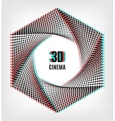 Cinema 3d creative concept banner poster vector